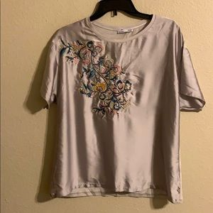 NWT Zara embroidered top medium